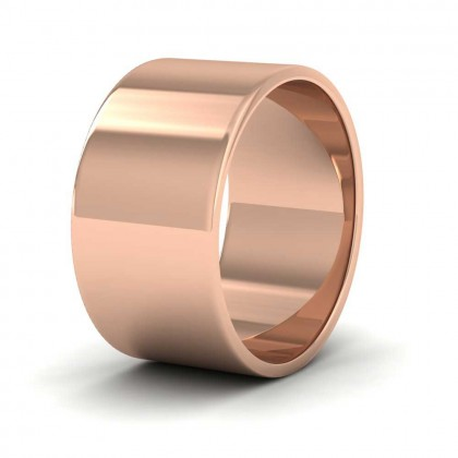 9ct Rose Gold 10mm Flat Shape Classic Weight Wedding Ring