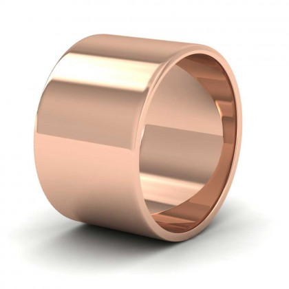 9ct Rose Gold 12mm Flat Shape Classic Weight Wedding Ring