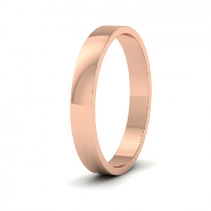 9ct Rose Gold 3mm Flat Shape Classic Weight Wedding Ring