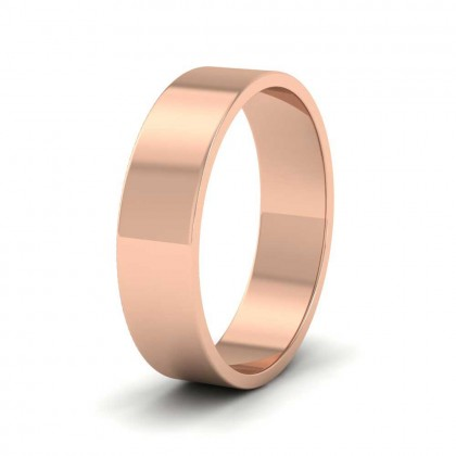 9ct Rose Gold 5mm Flat Shape Classic Weight Wedding Ring