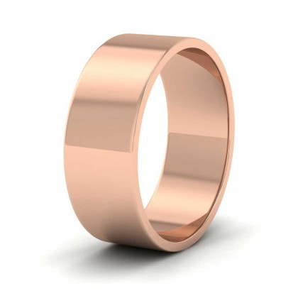 9ct Rose Gold 7mm Flat Shape Classic Weight Wedding Ring