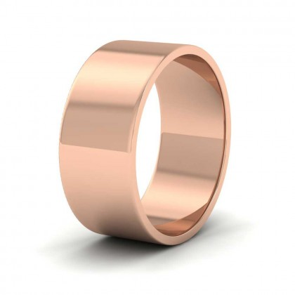 9ct Rose Gold 8mm Flat Shape Classic Weight Wedding Ring
