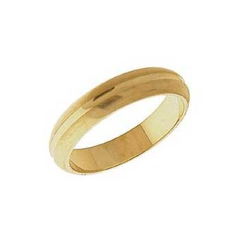9ct Yellow Gold Patterned Wedding Ring