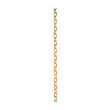 9ct Yellow Gold Small Trace Pendant Chain 20 Inch Necklace