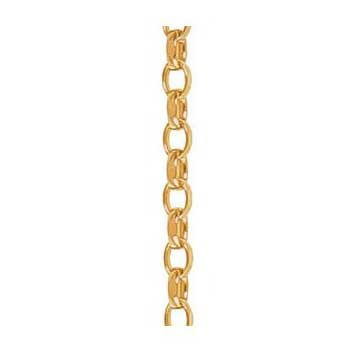 9ct Yellow Gold Diamond Cut Belcher Chain Bracelet