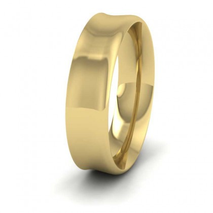 9ct Yellow Gold 6mm Flat Court Shape Patterned Wedding Ring