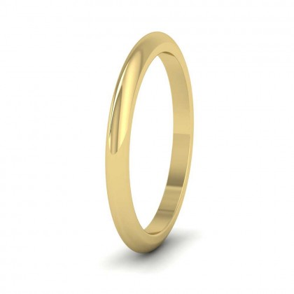 9ct Yellow Gold 2mm 'D' Shape Super Heavy Weight Wedding Ring