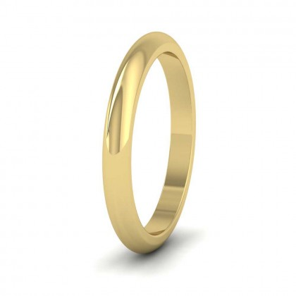 9ct Yellow Gold 2.5mm 'D' Shape Super Heavy Weight Wedding Ring