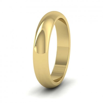 9ct Yellow Gold 4mm 'D' Shape Super Heavy Weight Wedding Ring