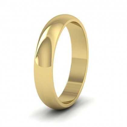 9ct Yellow Gold 4mm 'D' Shape Extra Heavy Weight Wedding Ring