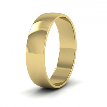 9ct Yellow Gold 5mm 'D' Shape Classic Weight Wedding Ring