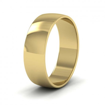 9ct Yellow Gold 6mm 'D' Shape Classic Weight Wedding Ring