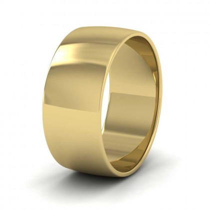9ct Yellow Gold 8mm 'D' Shape Classic Weight Wedding Ring