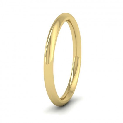 9ct Yellow Gold 2mm Court Shape (Comfort Fit) Super Heavy Weight Wedding Ring