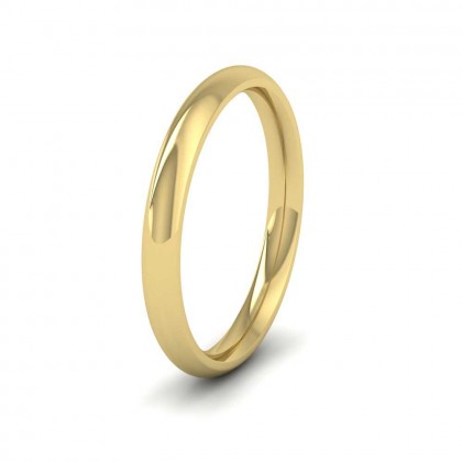 9ct Yellow Gold 2.5mm Court Shape (Comfort Fit) Extra Heavy Weight Wedding Ring