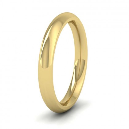 9ct Yellow Gold 3mm Court Shape (Comfort Fit) Super Heavy Weight Wedding Ring