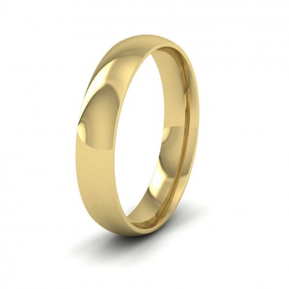 9ct Yellow Gold 4mm Court Shape (Comfort Fit) Classic Weight Wedding Ring