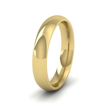 9ct Yellow Gold 4mm Court Shape (Comfort Fit) Extra Heavy Weight Wedding Ring