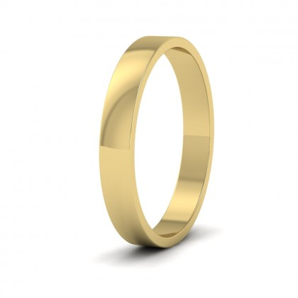 9ct Yellow Gold 3mm Flat Shape Classic Weight Wedding Ring