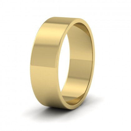 9ct Yellow Gold 6mm Flat Shape Classic Weight Wedding Ring