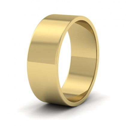 9ct Yellow Gold 7mm Flat Shape Classic Weight Wedding Ring