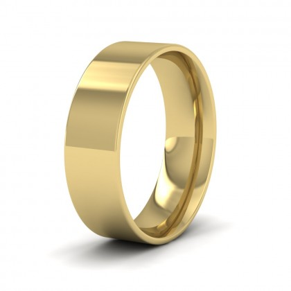 9ct Yellow Gold 6mm Flat Shape (Comfort Fit) Classic Weight Wedding Ring