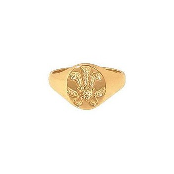9ct Yellow Gold Prince of Wales Oval Seal Ladies Signet Ring