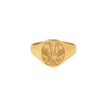 9ct Yellow Gold Prince of Wales Oval Seal Mans Signet Ring