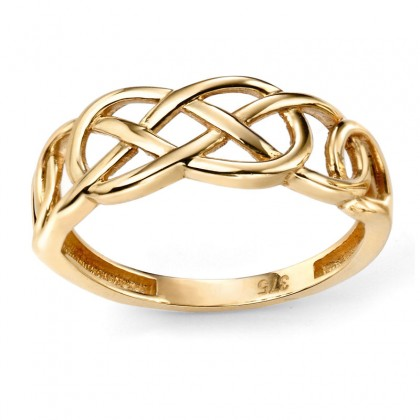 9ct Yellow Gold Plain Celtic Ring