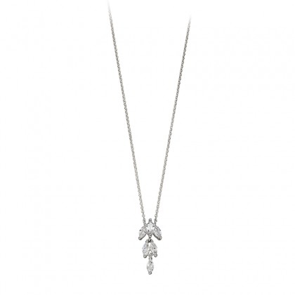 Sterling Silver Cubic Zirconia Set Pendant.