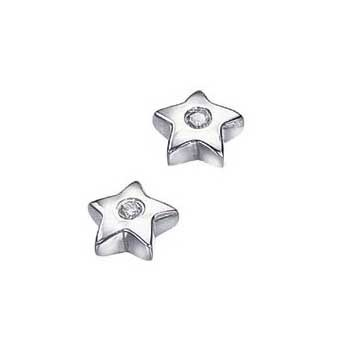 925 Sterling Silver Diamond Earrings