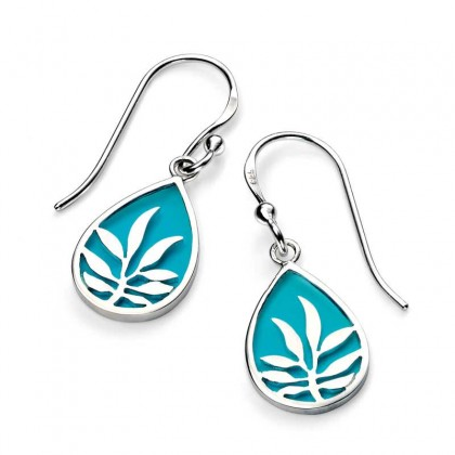 Sterling Silver Enamelled Earrings