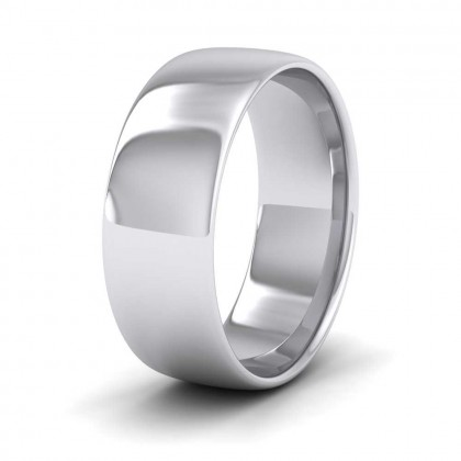 925 Sterling Silver 7mm Cushion Court Shape (Comfort Fit) Classic Weight Wedding Ring