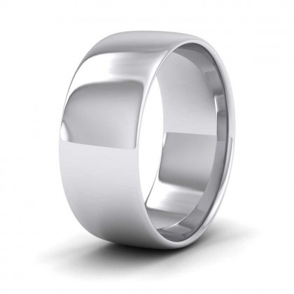 925 Sterling Silver 8mm Cushion Court Shape (Comfort Fit) Classic Weight Wedding Ring