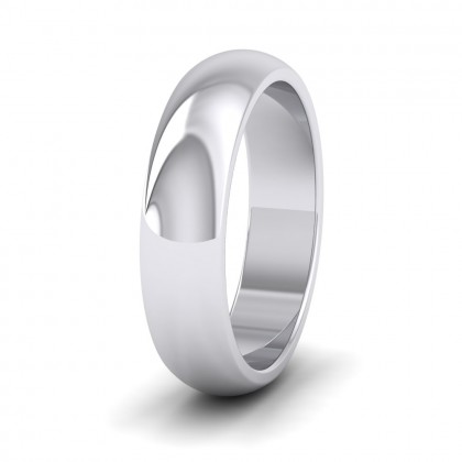 925 Sterling Silver 5mm 'D' Shape Super Heavy Weight Wedding Ring