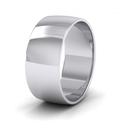 925 Sterling Silver 8mm 'D' Shape Classic Weight Wedding Ring