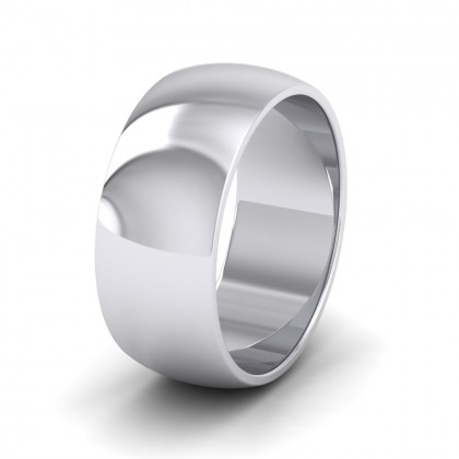 925 Sterling Silver 8mm 'D' Shape Extra Heavy Weight Wedding Ring