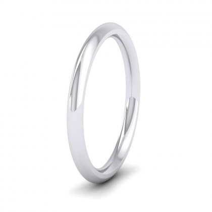 925 Sterling Silver 2.5mm Court Shape (Comfort Fit) Super Heavy Weight Wedding Ring