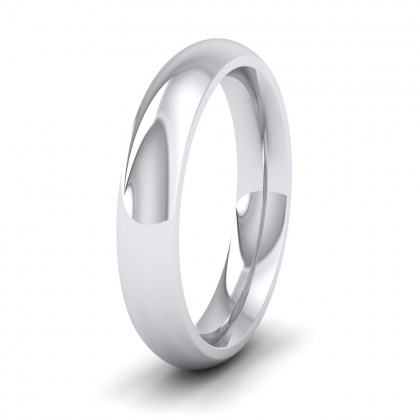 925 Sterling Silver 4mm Court Shape (Comfort Fit) Super Heavy Weight Wedding Ring