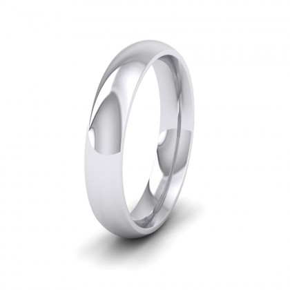 925 Sterling Silver 4mm Court Shape (Comfort Fit) Extra Heavy Weight Wedding Ring