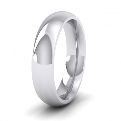 925 Sterling Silver 5mm Court Shape (Comfort Fit) Super Heavy Weight Wedding Ring