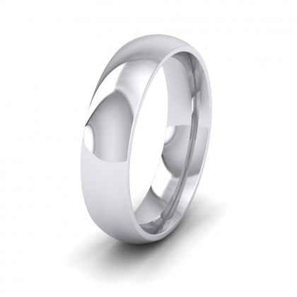 925 Sterling Silver 5mm Court Shape (Comfort Fit) Extra Heavy Weight Wedding Ring