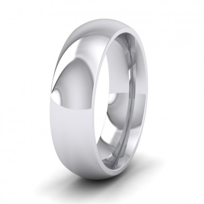 925 Sterling Silver 6mm Court Shape (Comfort Fit) Super Heavy Weight Wedding Ring