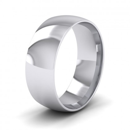 925 Sterling Silver 7mm Court Shape (Comfort Fit) Classic Weight Wedding Ring