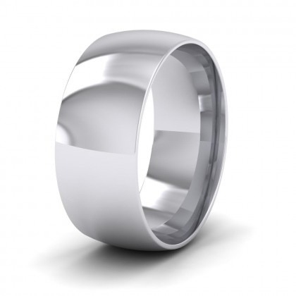 925 Sterling Silver 8mm Court Shape (Comfort Fit) Classic Weight Wedding Ring