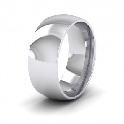 925 Sterling Silver 8mm Court Shape (Comfort Fit) Extra Heavy Weight Wedding Ring