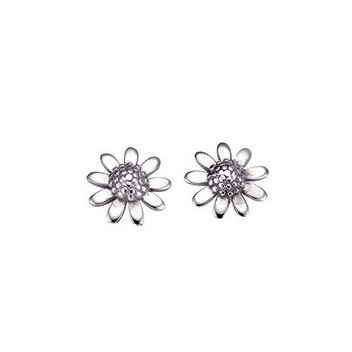925 Sterling Silver Daisy Earrings