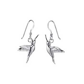 925 Sterling Silver Hummingbird Earrings