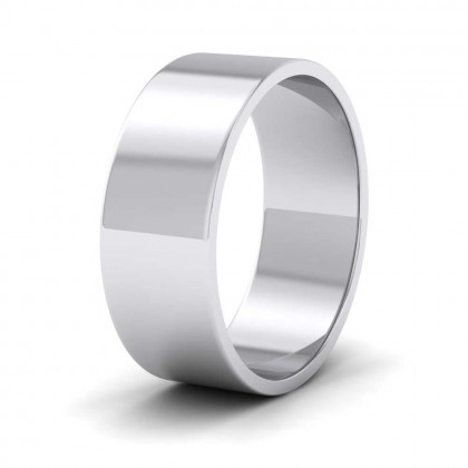 925 Sterling Silver 7mm Flat Shape Classic Weight Wedding Ring