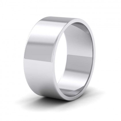 925 Sterling Silver 8mm Flat Shape Classic Weight Wedding Ring
